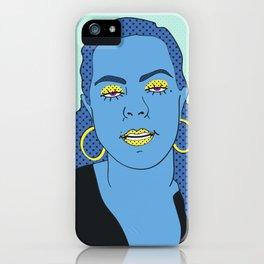 Gina (Aqua) iPhone Case