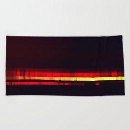 Abstract Communication Pattern Beach Towel
