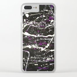 Cosmic Chaos Clear iPhone Case