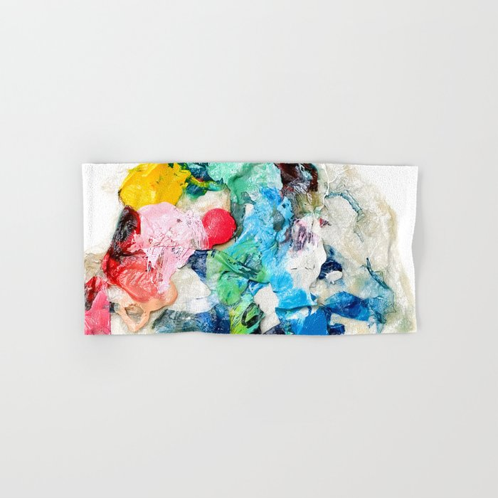 Rainbow Earth Paint Moon Love Hand & Bath Towel