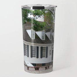 White Clapboard House - Colonial Williamsburg Travel Mug