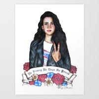 lana del rey Art Prints featuring Del Rey, Lana by boypetal