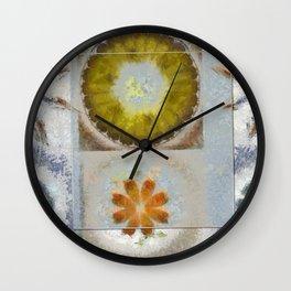 Heronbill Content Flower  ID:16165-155700-92131 Wall Clock