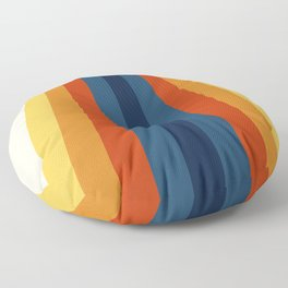 Bright 70's Retro Stripes Floor Pillow