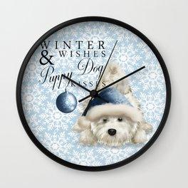Puppy Dog Kisses Wall Clock