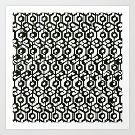 Blac & White  Art Print