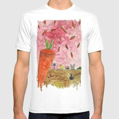 Everyone Love Carrot White MEDIUM Mens Fitted Tee