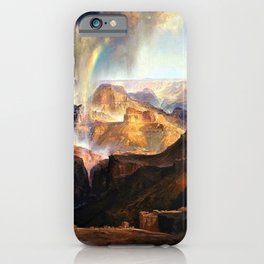 The Chasm of the Colorado, Windswept Rain Storm, Grand Canyon landscape by Thomas Moran iPhone Case