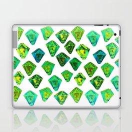 Green gemstone pattern. Laptop & iPad Skin