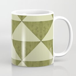 Geometric concrete guacamole shades triangles Coffee Mug
