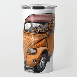 Orange 2CV Travel Mug
