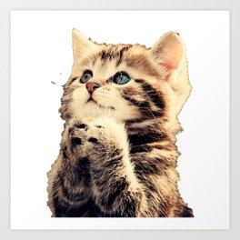 CUTE--CAT Art Print