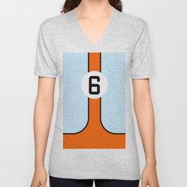 Gulf Le Mans Tribute design Unisex V-Neck