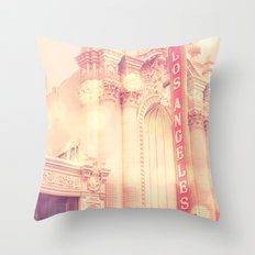 Los Angeles Theatre photograph Throw Pillow