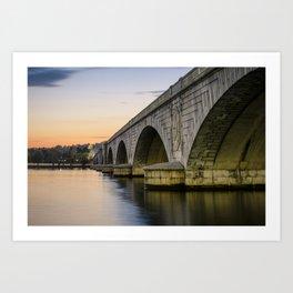 Arlington Memorial Bridge at dusk Art Print