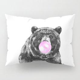 Bubble Gum Big Bear Black and White Pillow Sham