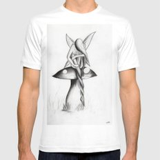 The Twist White Mens Fitted Tee MEDIUM