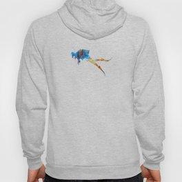Man scuba diver 01 in watercolor Hoody