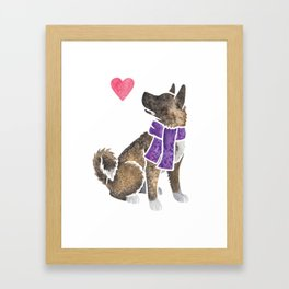 Watercolour Akita Framed Art Print