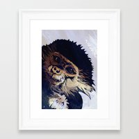 monkey Framed Art Prints featuring MONKEY by SAMHAIN