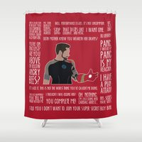 iron man Shower Curtains featuring Iron Man by MacGuffin Designs