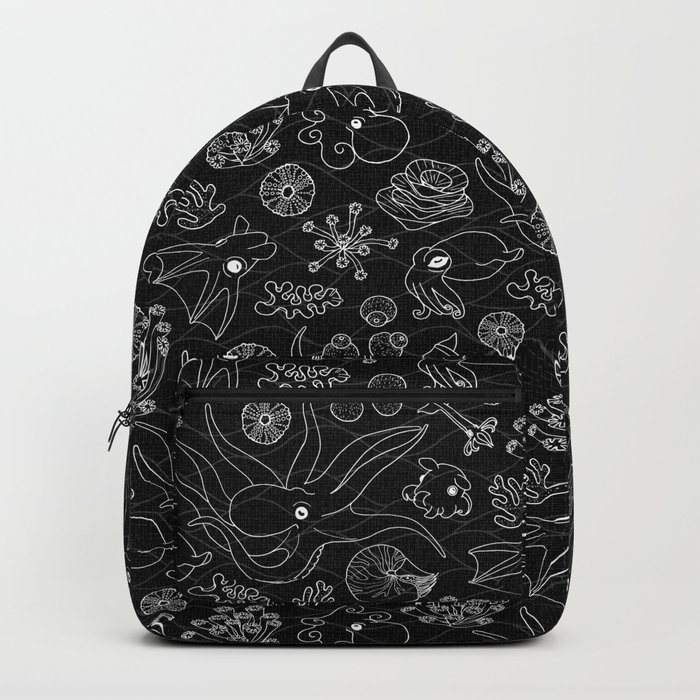 Cephalopods - Black and White Backpack