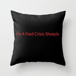 Crisis Sheeple Throw Pillow