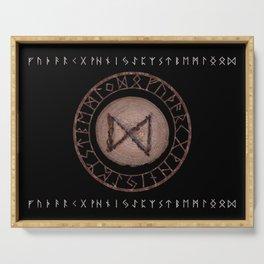 Dagaz - Elder Futhark rune Serving Tray