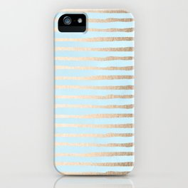 Abstract Stripes Gold Tropical Ocean Sea Turquoise iPhone Case
