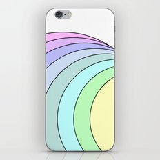 rainbow pastel iPhone Skin