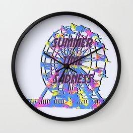 NEON HAPPINESS! Wall Clock
