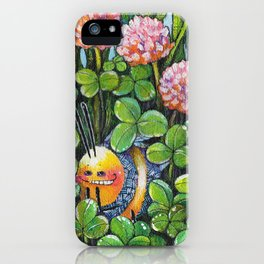 Hide and Seek in the Clover iPhone Case