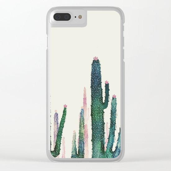 catus vertical Clear iPhone Case
