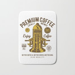 Classic Coffee Maker - Locally Brewed Bath Mat