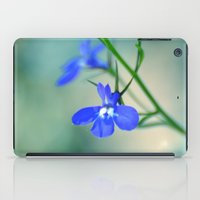 lv iPad Cases featuring Blue Lobelia  by Teresa Chipperfield Studios