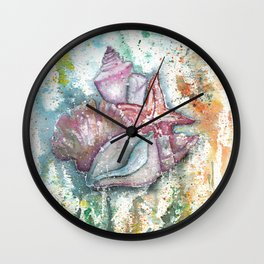 Seashells Art Illustration Wall Clock