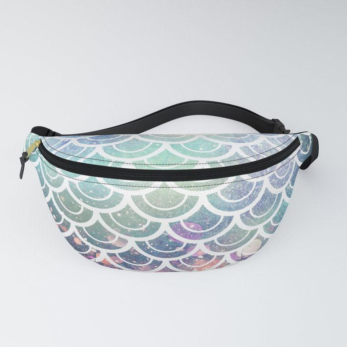 Mermaid Scales Coral and Turquoise Fanny Pack