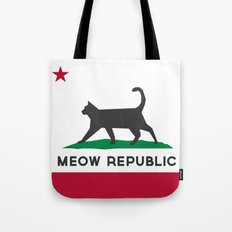 Meow Republic - Flag of Catifornia Tote Bag