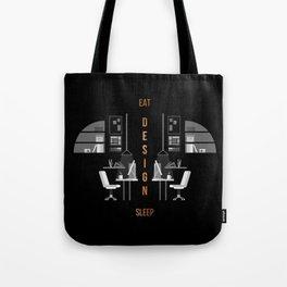 Eat Sleep Design Copper Tote Bag