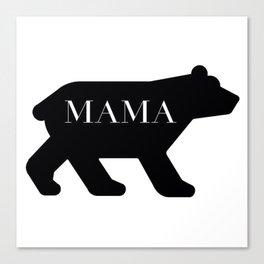 Mama Bear in Black Canvas Print