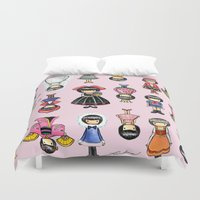 girly Duvet Covers featuring Girly by Ho Man Law