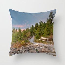 Spruce Knob Twilight Trail Throw Pillow