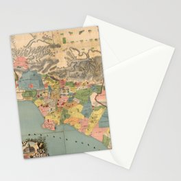 Vintage Map of Los Angeles County CA (1888) Stationery Cards