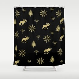 Golden christmas pattern - #christmas #xmas #golden Shower Curtain