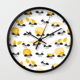 Ants in summer Wall Clock