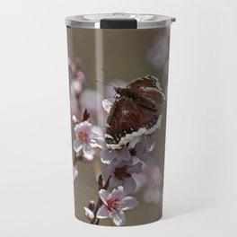 Mourning Cloak on Apricot Tree Travel Mug