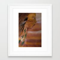indian Framed Art Prints featuring Indian by Kathleen Follert