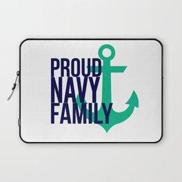 Proud Navy Family Laptop Sleeve