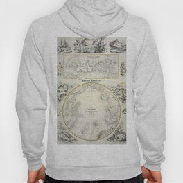 Map Of The Arctic 1856 Hoody
