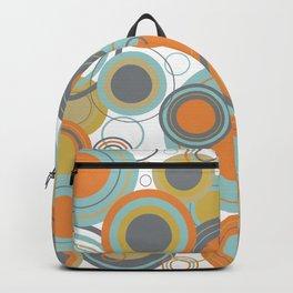 Retro Mid Century Modern Circles Geometric Bubbles Pattern Backpack